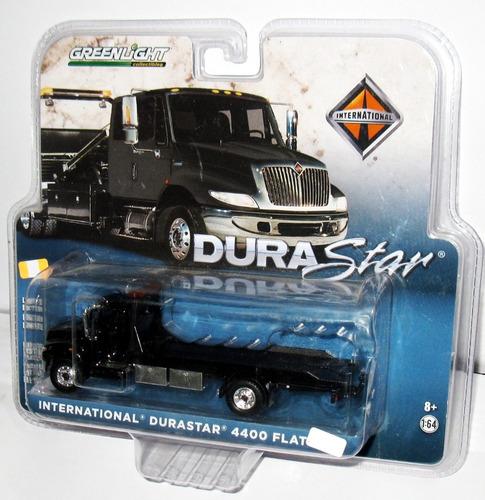camion international durastar 4400 flat bed greenlight