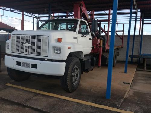 camion kodia con grua articulada brazo pigman