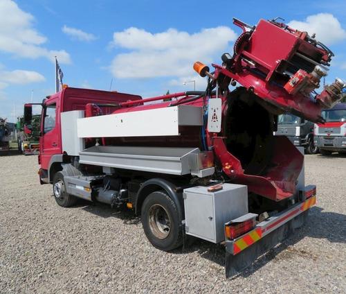 camión limpia fosas-hidrojet, mercedes atego 1223  en venta