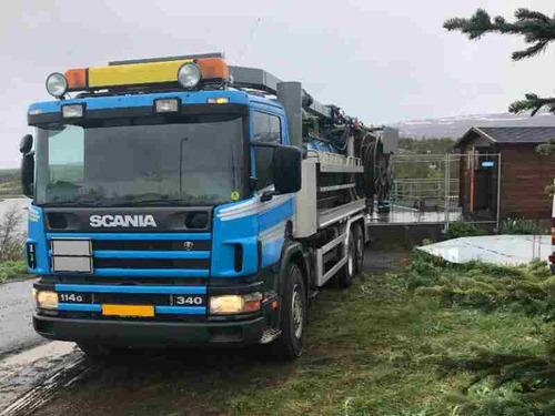 camión limpia fosas-hidrojet,scania 340 6x2  en venta