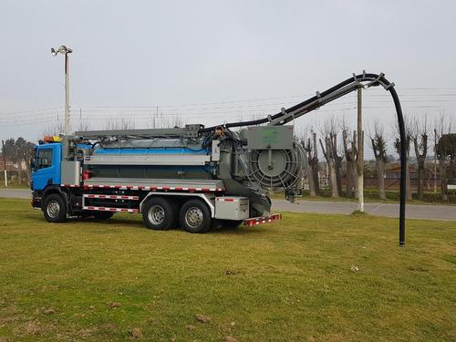 camión limpia fosas-hidrojet,scania p340 6x2  en venta