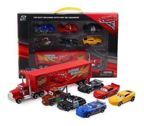 camion mack cars pixar disney mcqueen + 6 autos envio gratis