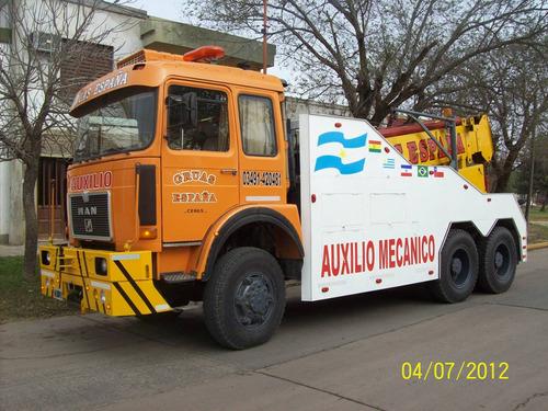 camion man 40,440, 6x6, 10v. grua de auxilio extra pesada.