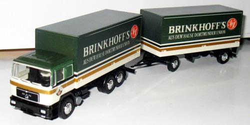 camion man cerveza brinkhoff´s - 1/87 h0 herpa (germany)