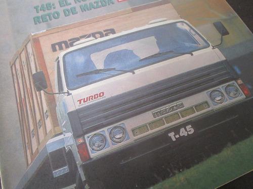 camion mazda turbo t45 revista de coleccion año 1989 / m4
