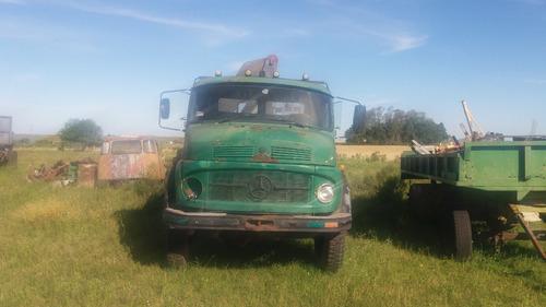 camión mercedes benz 1114 4x4 con grúa mas chasis c/ejes