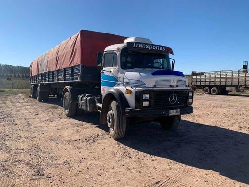 camion mercedes benz con remolque 1313. se acepta permutas.