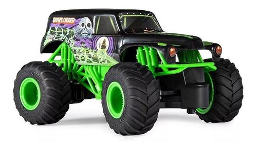 camión monster jam grave digger gigante 19 cm control remoto