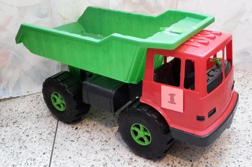 camion montable  tipo volteo grande para niños