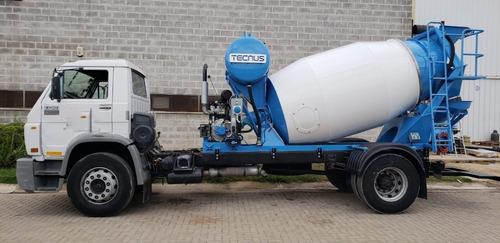 camion motohormigonero vw 13-180 c/ maq. tecnus nueva 4m3