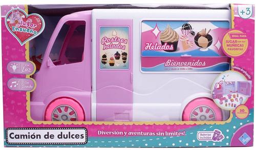 camion p/ muñecas food truck luz y sonido cod 7099 bigshop