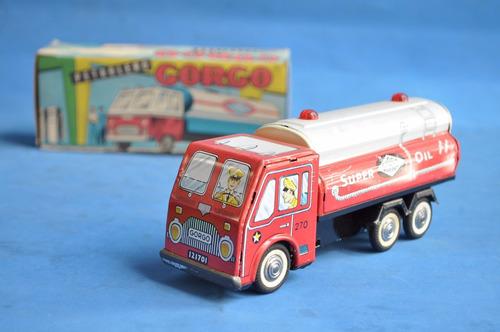 camion petrolero super oil gorgo caja mib juguete antiguo