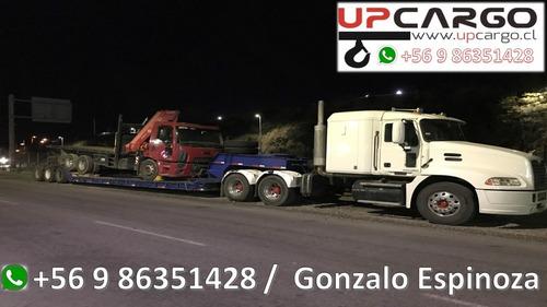 camion pluma grua pluma arriendo cama baja camion rampla