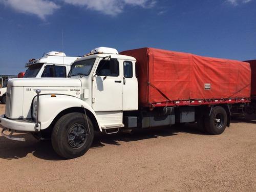 camion scania 111 s 4x2, año 1981 con acoplado randon 3 ejes