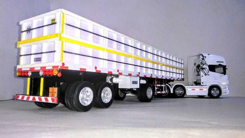 camión scania 730 v8 welly con acoplado granelero