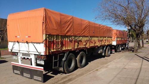 camión scania con acoplado