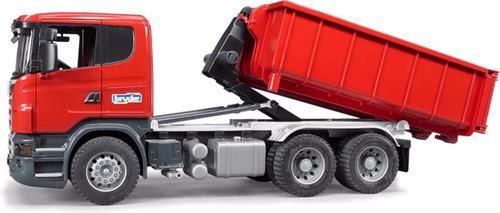 camión scania con tolva hidráulica 1:16 - bruder