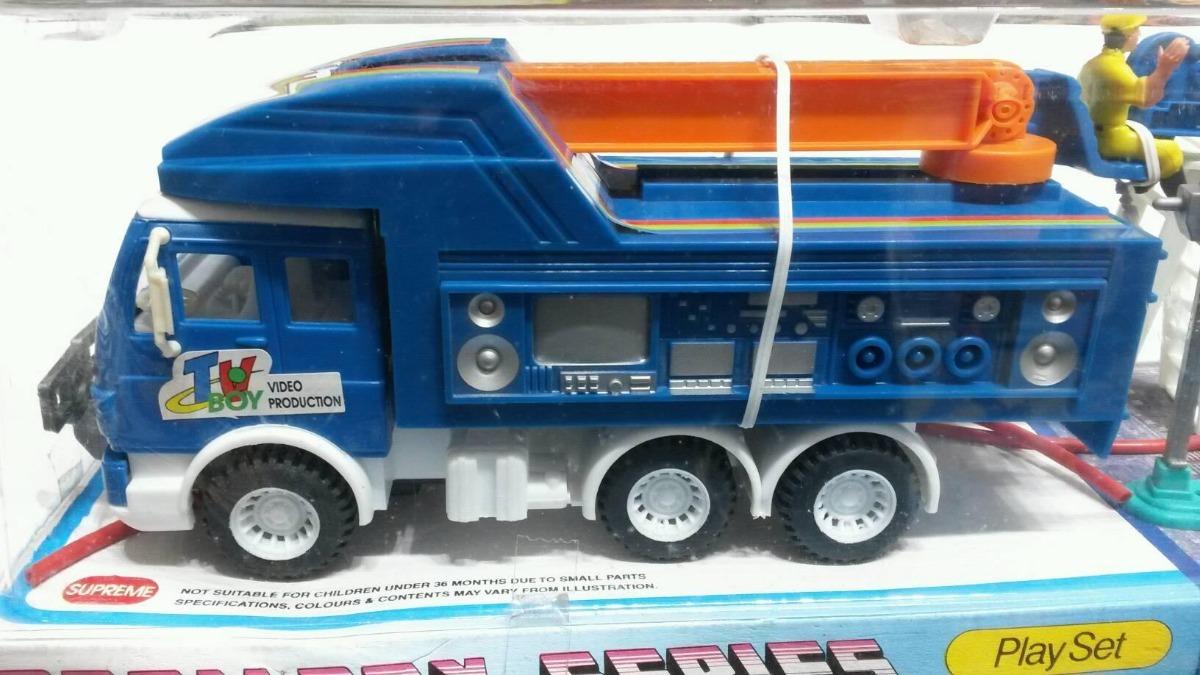 Friccion Set Tv Myuj Juguete La Grua De Camion Plata Y76bygfv