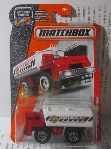 camion tanque cisterna escala pequeña coleccion matchbox