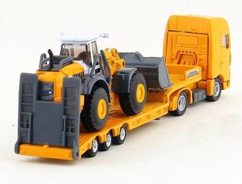camion trailer + cargadora maquinas construcción siku 1/87