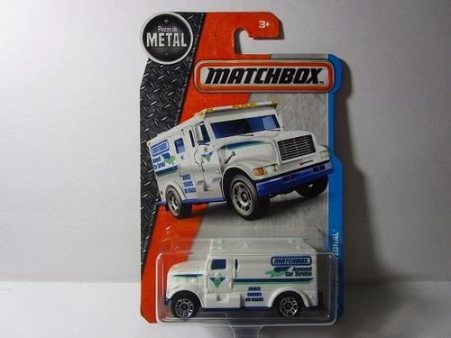 camion valores international matchbox escala 7cm largo