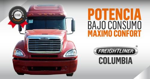 camion volcador columbia freightliner americano