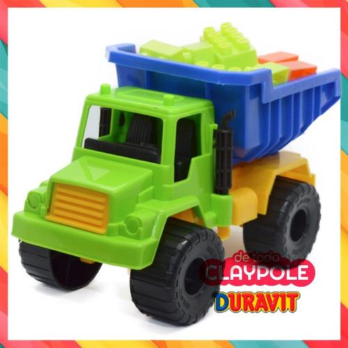 camión volcador con bloques duravit 28 x 16 x 18 cms