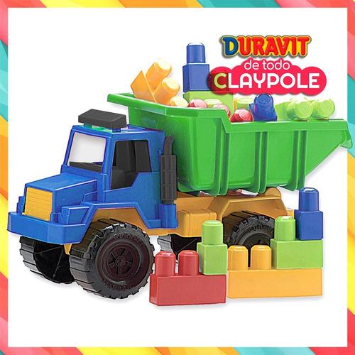 camión volcador duravit mediano con bloques - 42 cms