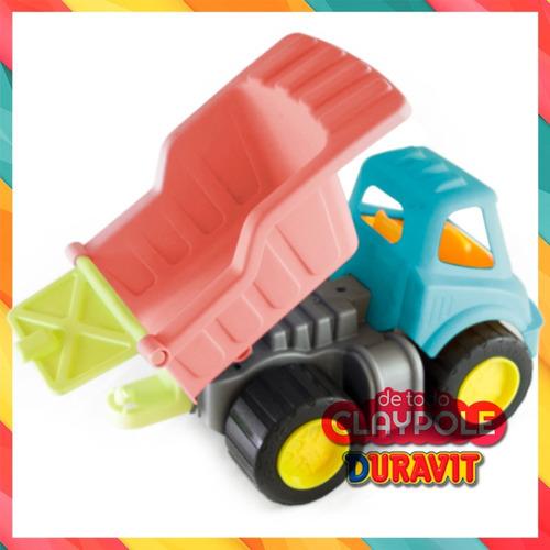 camión volcador grande duravit - 32 cms - colores pastel