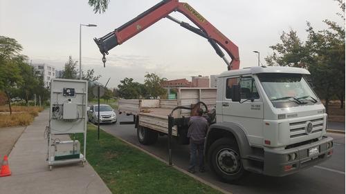 camión volkswagen 15180 con grúa pluma palfinger