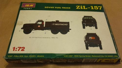 camión zil - 157 soviet fuel truck 1/72 icm