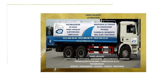 camiones cisternas agua potable