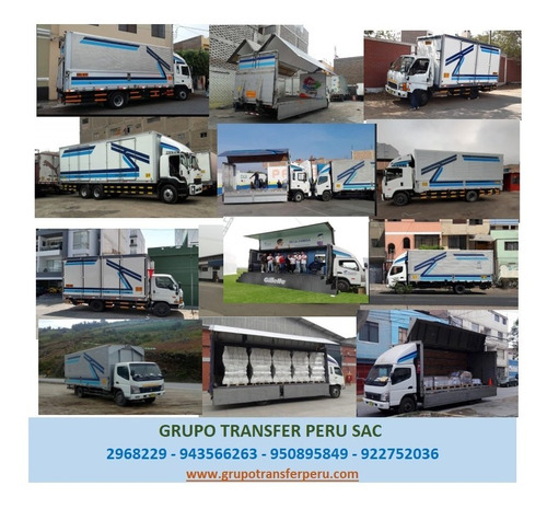 camiones con rampa - ala de gaviota -  cargas general