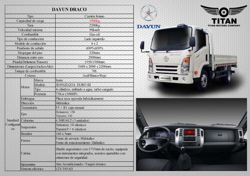 camiones dayun 1.9 ton