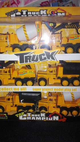 camiones de construcción de 6 und.