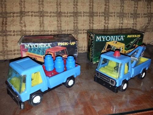 camiones myonka camion-grua juguete antiguo caja originales