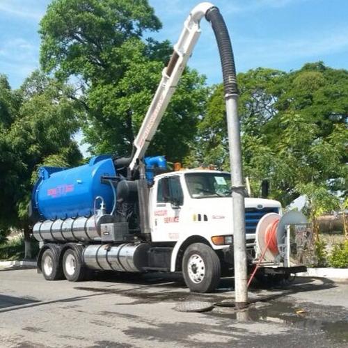 camiones vacuum baños portatiles limpieza de tuberias, pozos