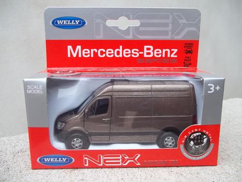 camioneta a escala mercedes benz sprinter 1/36 welly