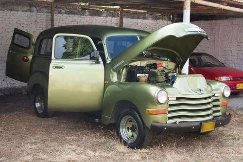 camioneta antigua de colección chevrolet panel 1950