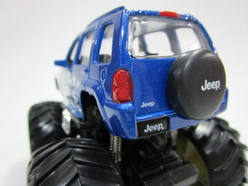 camioneta campero jeep 4x4 cherokee monster escala 11cm