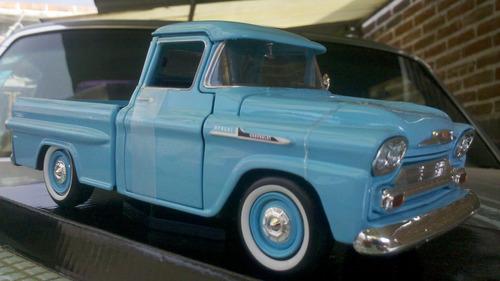 camioneta chevi apache scale 1/24 de collection mol 1958