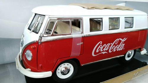 camioneta clásica volkswagen samba  coca-cola escala 1/18.