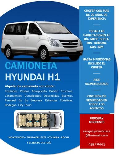 camioneta con chofer, hyundai h1