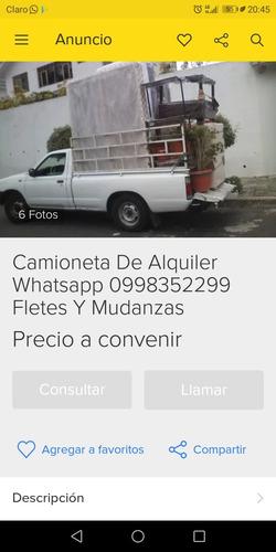 camioneta de alquiler  wathapp 0998352299 fletes y mudanzas