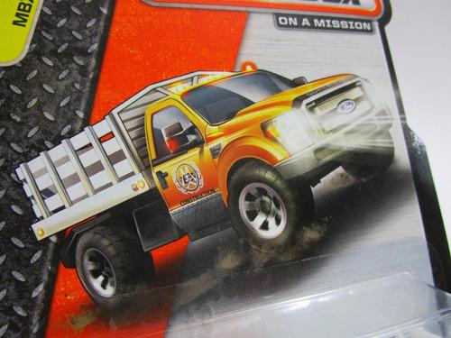 camioneta ford estacas escala miniatura coleccion matchbox