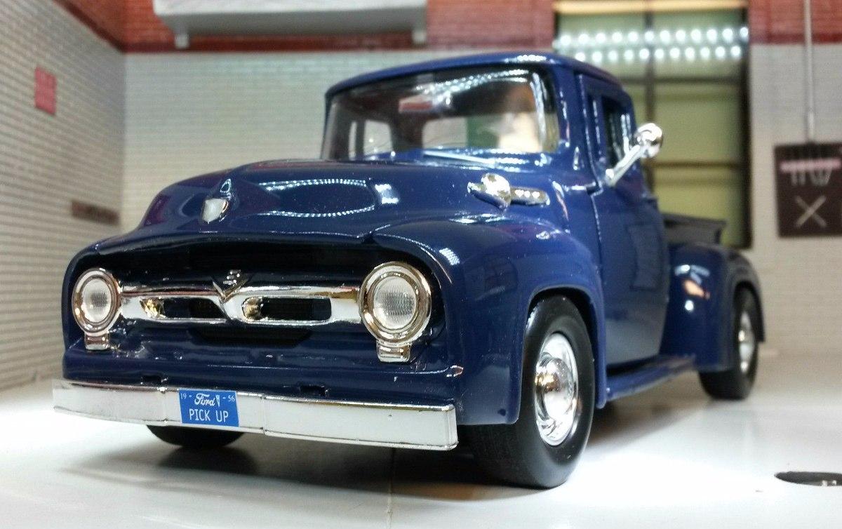 camioneta ford pick up 1956 de coleccion esc 1 24 en mercado libre. Black Bedroom Furniture Sets. Home Design Ideas