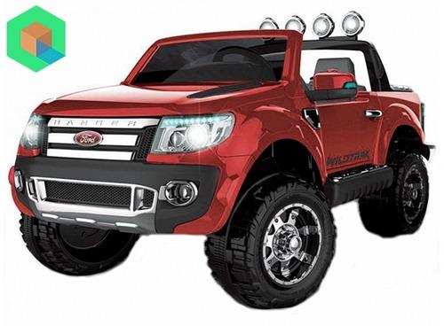 camioneta ford ranger a bateria para dos niños - rojo