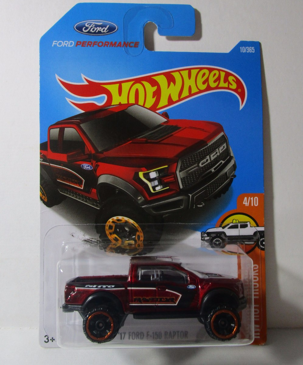 Camioneta Ford Raptor F150 Coleccion Escala Hot Wheels