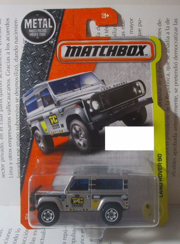 camioneta jeep land rover escala 7cm largo matchbox 1/64