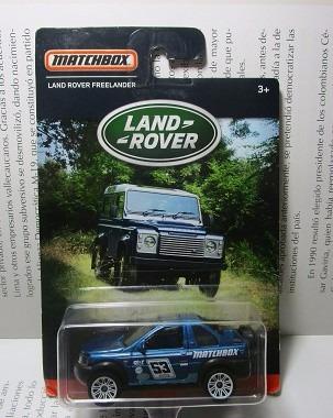 camioneta land rover freelander escala 7cm largo matchbox